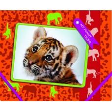 """Папка пластиковая Cool for school """"My Funny Tiger"""", В5, на резинках"""