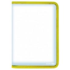 Папка-пенал пластиковая на молнии Economix А4, желтая