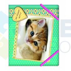 "Папка пластиковая Cool for school ""My funny kitty"", В5, на резинках"