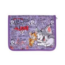 """Папка-пенал пластиковая Cool for school """"Tom and Jerry"""", В5, на молнии"""