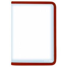 Папка-пенал пластиковая на молнии Economix А4, красная