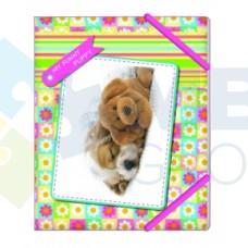 """Папка пластиковая Cool for school """"My funny puppy"""", В5, на резинках"""