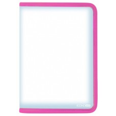 Папка-пенал пластиковая на молнии Economix А4, розовая