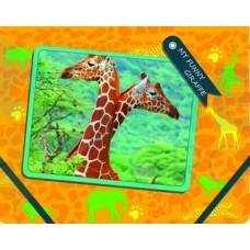 """Папка пластиковая Cool for school """"My Funny Giraffe"""", В5, на резинках"""