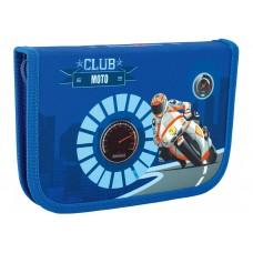 """Пенал твердый Cool for school """"Moto Club"""", с 1 отворотом"""