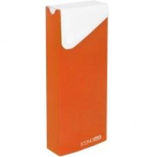 Пенал пластиковый на кнопке Economix, А6, оранжевый