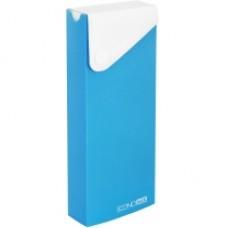Пенал пластиковый на кнопке Economix, А6, голубой