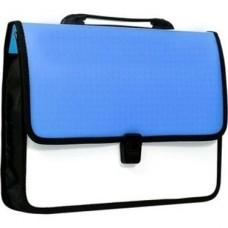 """Портфель пластиковый Economix """"Вышиванка"""", A4, на застежке, голубой"""