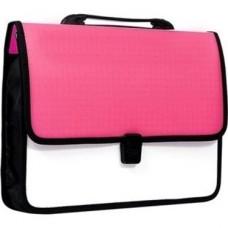 """Портфель пластиковый Economix """"Вышиванка"""", A4, на застежке, розовый"""