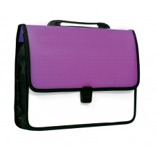 """Портфель пластиковый Economix """"Вышиванка"""", A4, на застежке, фиолетовый"""