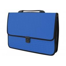 """Портфель пластиковый Economix """"Вышиванка"""", A4, на застежке, синий"""