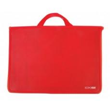 Портфель пластиковый Economix, А4, на молнии, красный