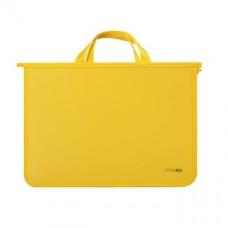 Портфель пластиковый Economix, А4, на молнии, желтый