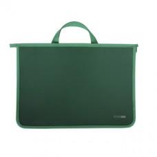 Портфель пластиковый Economix, А4, на молнии, зеленый