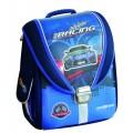 """Ранец школьный каркасно-трансформер Cool for school """"Blue Car"""", 14"""""""