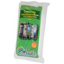 Салфетки влажные для мобильных телефонов Арника, 15 шт
