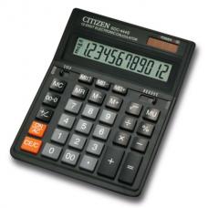 Калькулятор настольный Citizen SDC-444S, 12 разрядов, размер 153х199х30,5мм