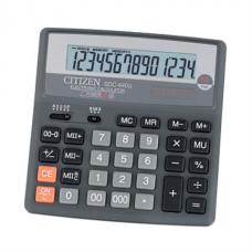 Калькулятор настольный Citizen SDC-640, 14 разрядов, размер 156х156х31мм