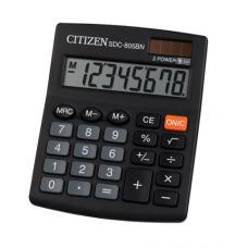 Калькулятор настольный Citizen SDC-805BN, 8 разрядов, размер 102х131х18,5мм