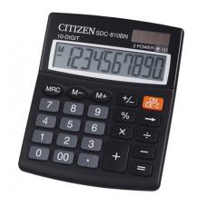 Калькулятор настольный Citizen SDC-810BN, 10 разрядов, размер 100х125х34мм