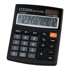 Калькулятор настольный Citizen SDC-812BN, 12 разрядов, размер 100х125х34мм