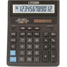 Калькулятор настольный Citizen SDC-888T, 12 разрядов, размер 158х203х31мм
