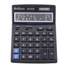 Калькулятор настольный Brilliant BS-0222, 12 разрядов, размер 140х176х45мм