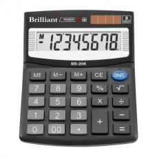 Калькулятор настольный Brilliant BS-208, 8 разрядов, размер 100х124х33мм