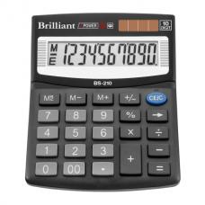 Калькулятор настольный Brilliant BS-210, 10 разрядов, размер 100х124х33мм