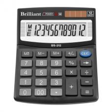 Калькулятор настольный Brilliant BS-212, 12 разрядов, размер 124х100х33мм