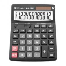 Калькулятор настольный Brilliant BS-2222, 12 разрядов, размер 150х193х29мм