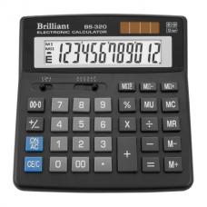 Калькулятор настольный Brilliant BS-320, 12 разрядов, размер 156х157х34мм