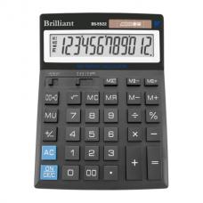 Калькулятор настольный Brilliant BS-5522, 12 разрядов, размер 151х204х38мм