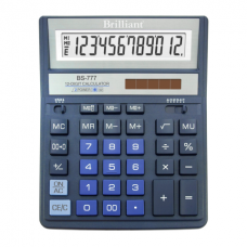 Калькулятор настольный Brilliant BS-777ВL, 12 разрядов, размер 157х200х31мм
