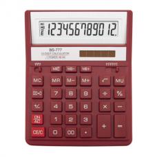 Калькулятор настольный Brilliant BS-777RD, 12 разрядов, размер 157х200х31мм