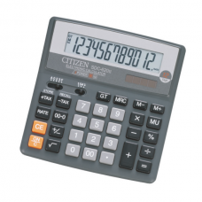 Калькулятор настольный Citizen SDC-620, 12 разрядов, размер 156х156х31мм