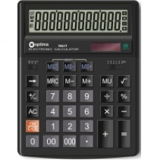 Калькулятор настольный Optima, 12 разрядов, размер 200 х 154 х 36 мм