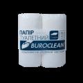 Бумага туалетная целлюлозная Buroclean 4 рулона, на гильзе, белая
