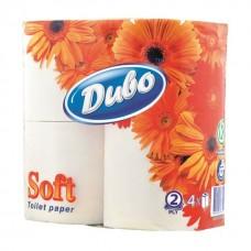 Бумага туалетная целлюлозная Диво Soft 4 рулона, на гильзе, белая