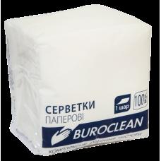 Салфетки бумажные Buroclean, 240x240 мм, 100шт, белые