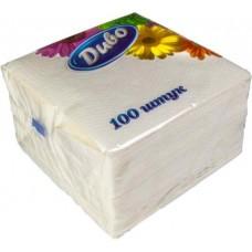 "Салфетки бумажные ""Диво"" 330х330 мм, 100шт, белые"