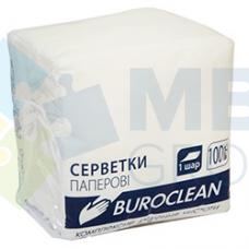 Салфетки бумажные Buroclean, 240х240 мм, 400шт, белые