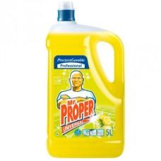 Универсальное средство для мытья пола и стен Mr. Proper, 5 л, лимон