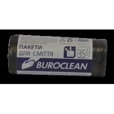 Пакеты для мусора ECO 35л/30шт. Buroclean (черные)