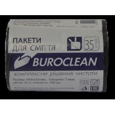 Пакеты для мусора ECO 35л/100шт. Buroclean (черные)