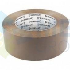 Лента клейкая упаковочная 45 мм х 66 яр. Format, коричневая
