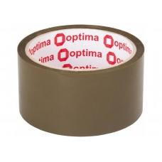 Лента клейкая упаковочная 48 мм х 40 м х 40 мкм Optima, коричневая