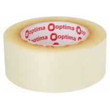 Лента клейкая упаковочная 48 мм х 160 м х 40 мкм Optima, прозрачная