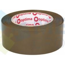 Лента клейкая упаковочная 48 мм х 160 м х 40 мкм Optima, коричневая