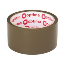 Лента клейкая упаковочная 48 мм х 35 м х 43 мкм Optima Extra, коричневая